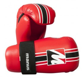 Manus point fighting glove, red